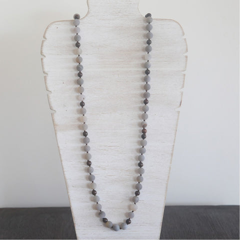 Natural Stone Long Necklace