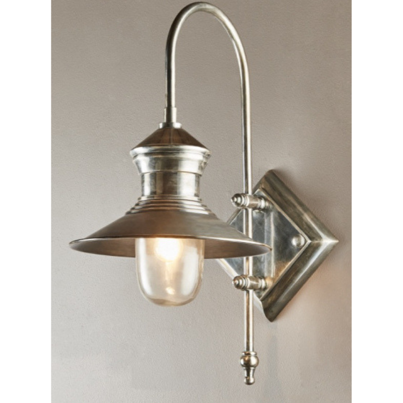 St James Wall Lamp | Antique Silver