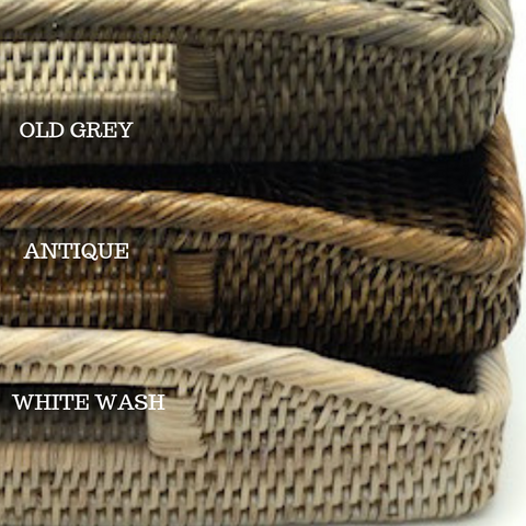 Lace Tray | Rattan | Old Grey