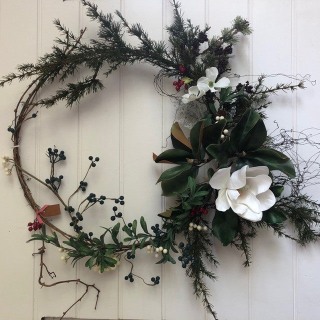 Magnolia Bloom One Wreath | Handmade in Country Victoria