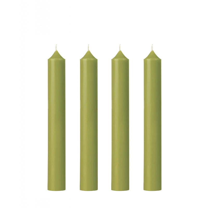 Dinner Candle | Granny Smith Olive | Made in France