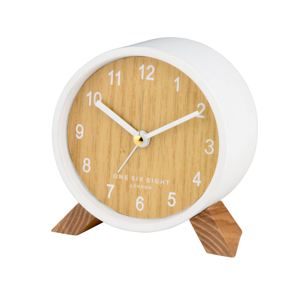 Frankie Open Dial Alarm Clock | White | Silent Movement