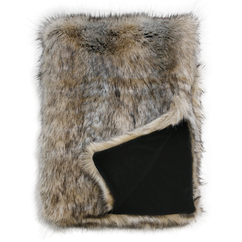 Heirloom Faux Fur Throw  | Egyptian Jackal