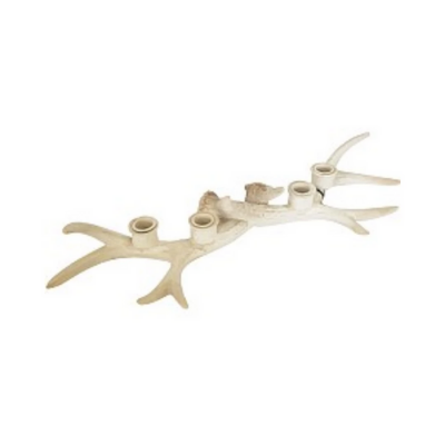 Antler Candle Holder | Cream