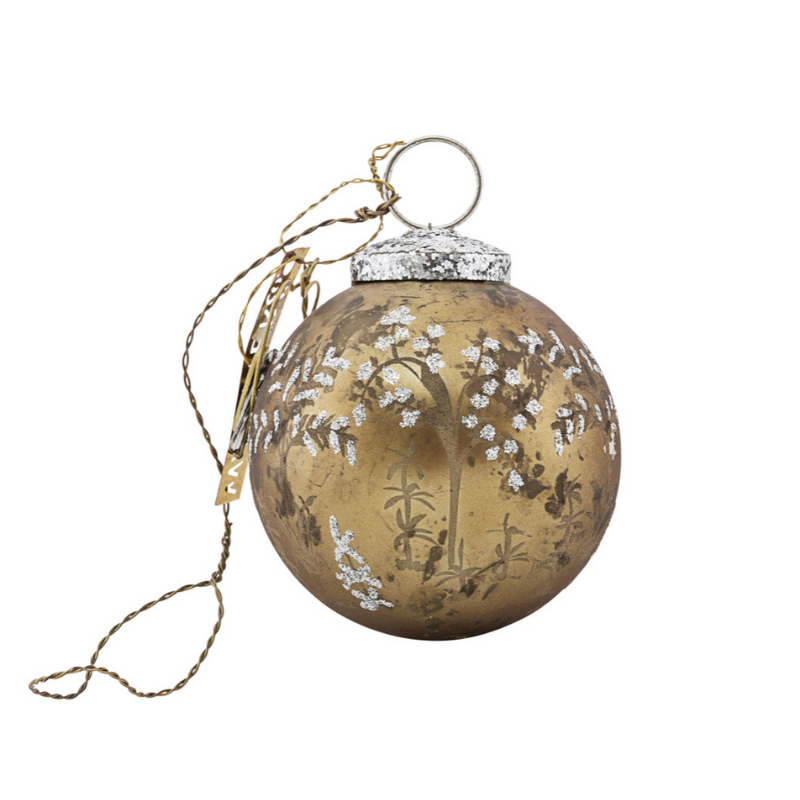 Glass Forest Bauble |  Antique Gold | Small