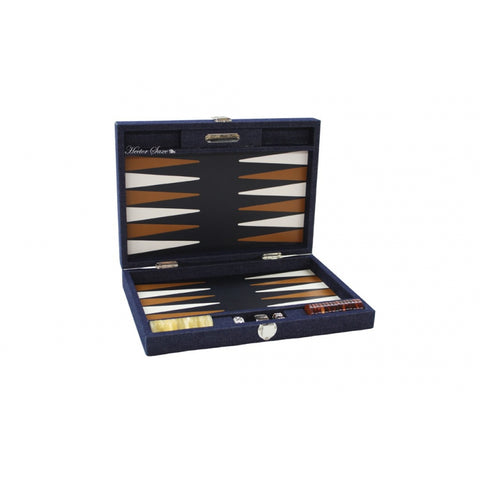 Hector Saxe Backgammon | Handmade in France | Leather & Denim