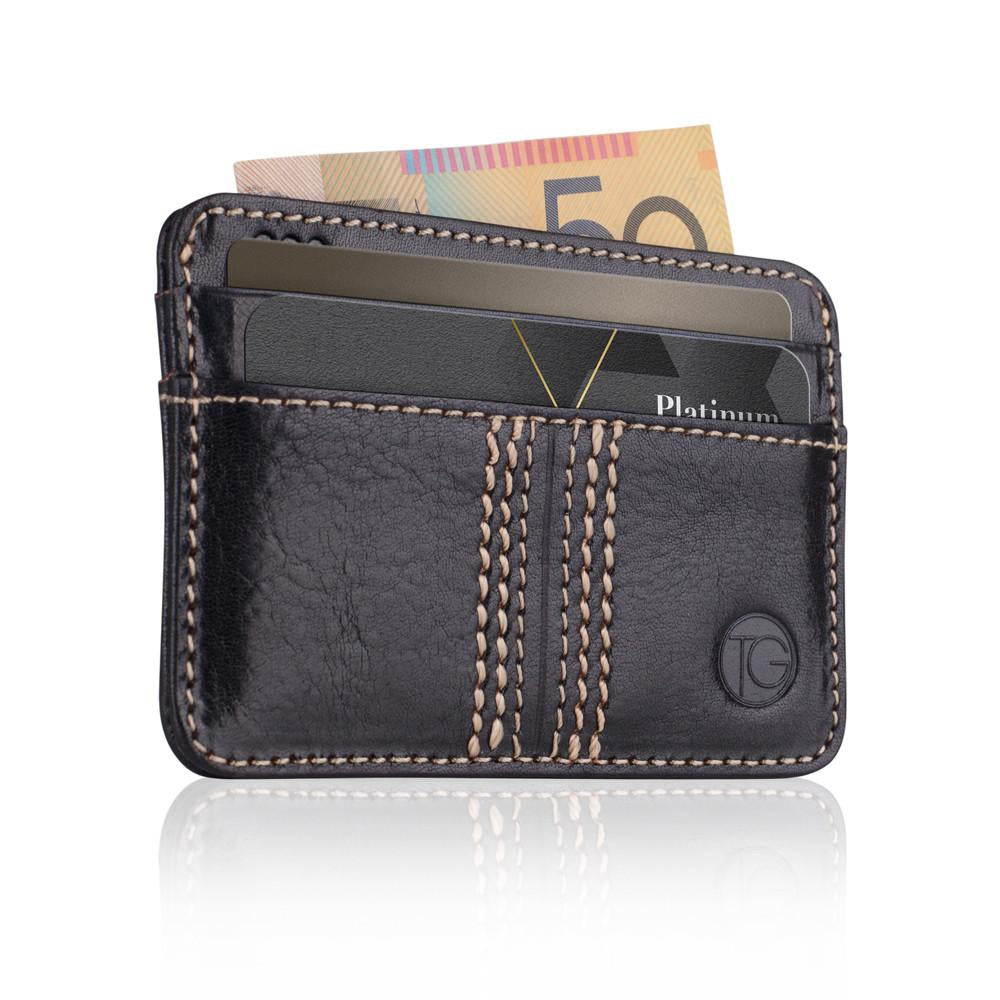 The Slip | Black Compact Cardholder