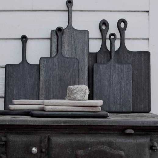 Natural Ebonised Serving Board | Large