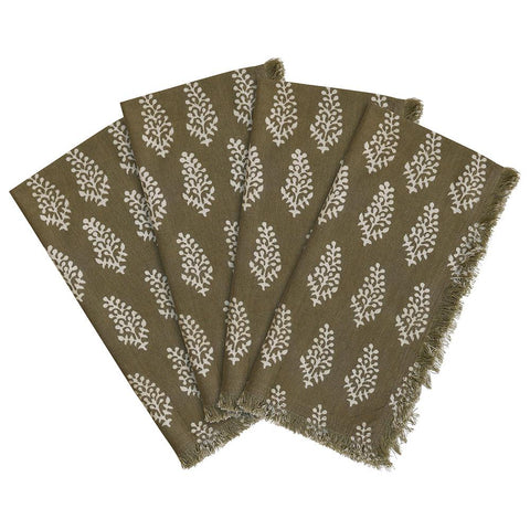 Lucknow - Caper - SET OF 4 Napkins