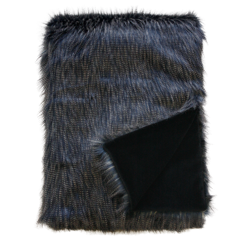 Heirloom  Faux Fur Throw  | Dark Pheasent