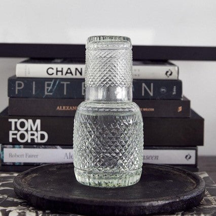 Bedside Carafe & Tumbler | Clear Diamond