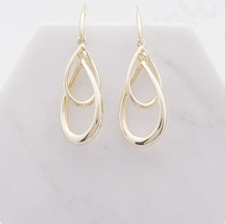 Double Teardrop Earrings | Gold