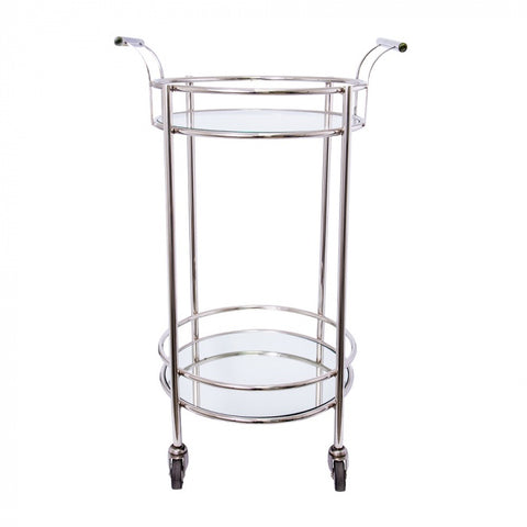 Osborne Bar Trolley | Stainless Steel / Glass