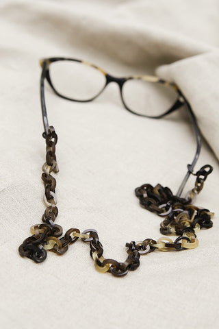 Buffalo Horn Glasses Chain | Eco Friendly | Dark