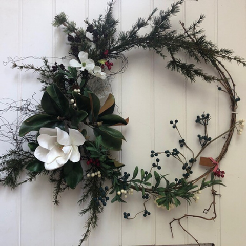 Magnolia Bloom Two Wreath | Handmade in Country Victoria
