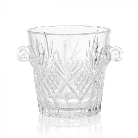 James Glass Cut Ice Bucket
