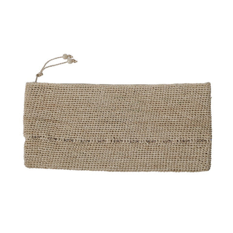 Alpha Tresse Multicolore  Clutch | Natural