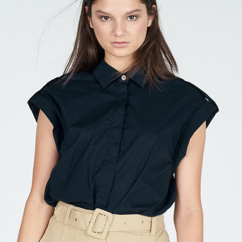 Faction Cotton Poplin Atlantic Top | Zoe Kratzmann