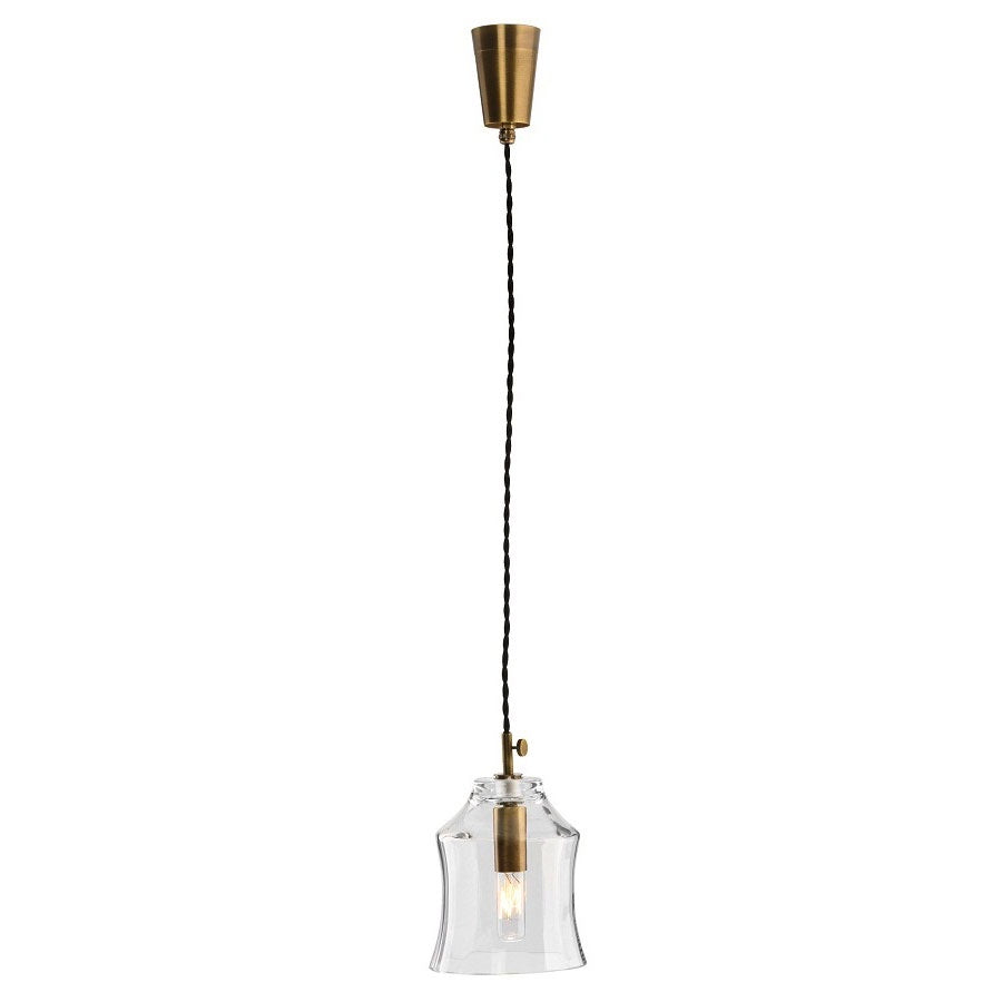 Tulip Pendant Light | Aged Brass & Glass | Small