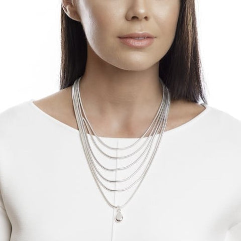 Six Layer Chain Necklace | Silver