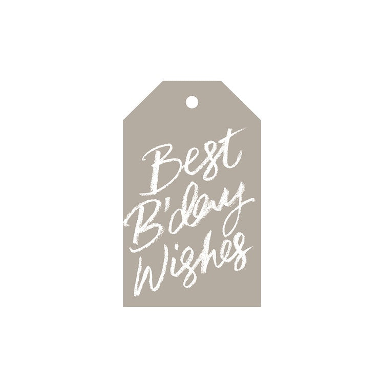 Best Bday Wishes - Gift Tag