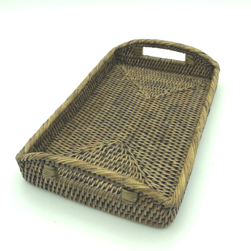 Baby Rattan Tray | Antique