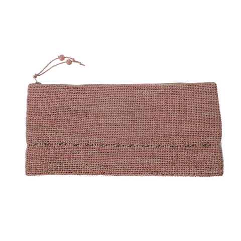 Alpha Tresse Multicolour Clutch |  Light Pink