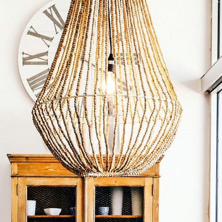 Natural Beaded Aria Chandelier