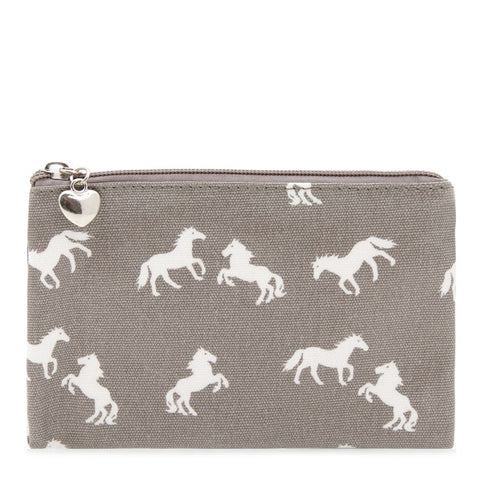 Grey Horses | Pencil Zip Pouch
