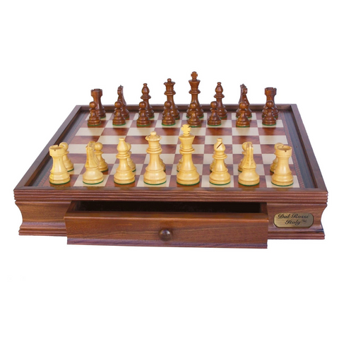 Dal Rossi Chess Set with Drawer | Made in Italy | 20""