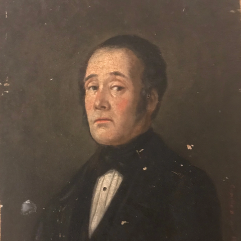 French Portrait/Father Oil on Board | Circa 1800