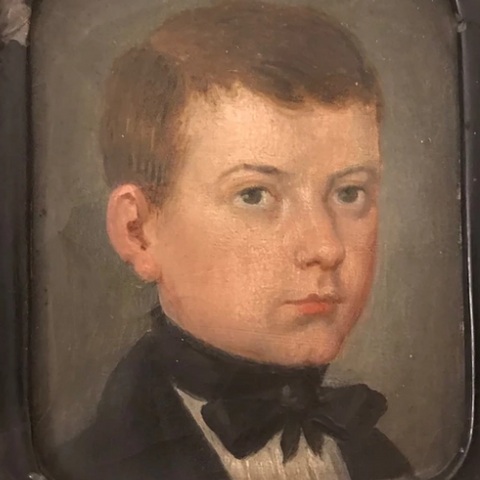 French Oil Portrait of Child | Circa 1800