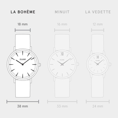La Boheme Cluse Watch |  Gold & Mesh Strap