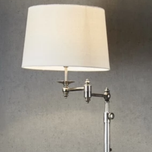 Mackay Swing Arm Table Lamp | Antique Silver