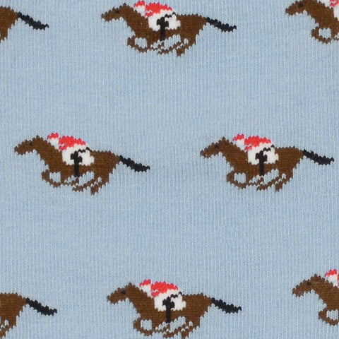 Pale Blue Racehorses Socks