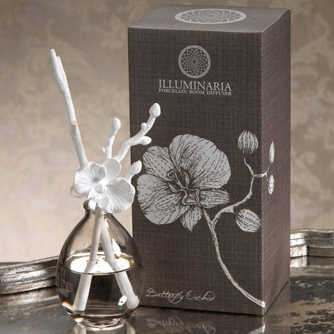 Illuminaria Diffuser  | Porcelain Stem | Butterfly Orchid