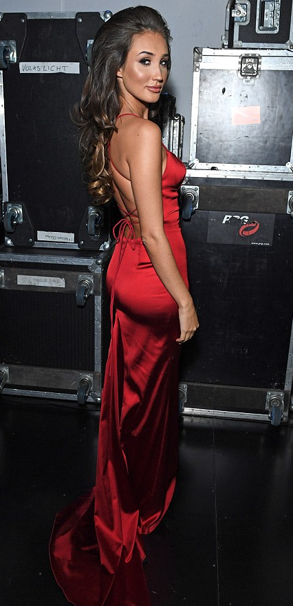 Megan McKenna Red Backless Dress