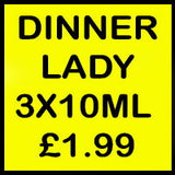 DINNER LADY 3x10ml at £1.99 image in words
