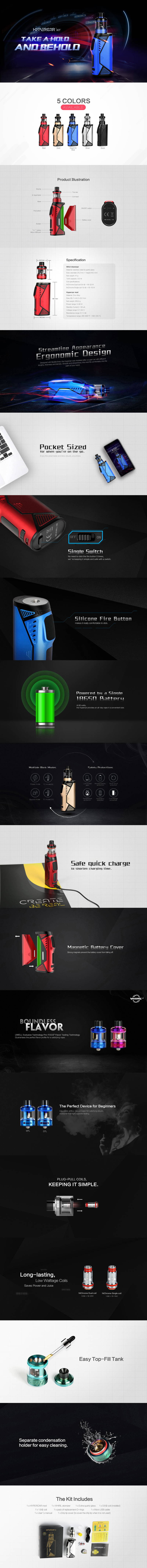 Uwell tanks and coils hypercar