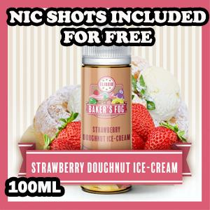 Strawberry Donut Ice-Cream E-Liquid by Bakers Fog 100ml Shortfill