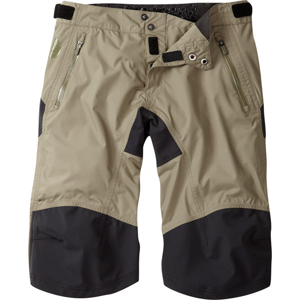Madison DTE Men's Waterproof Shorts. Olive Green, Large