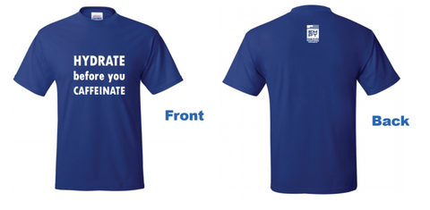 Hydrate t-shirt (blue)