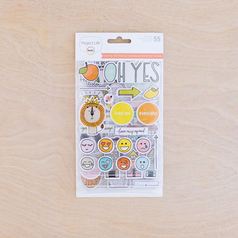 Project 52 - Rad Chipboard Stickers