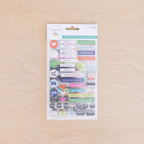 Snapshots Edition Chipboard Stickers