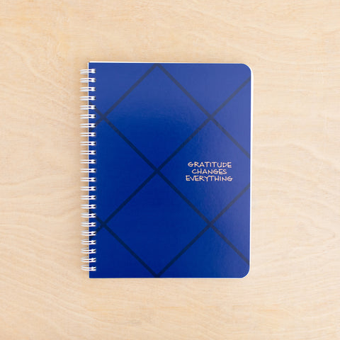 Gratitude Simple Notebook - Blue