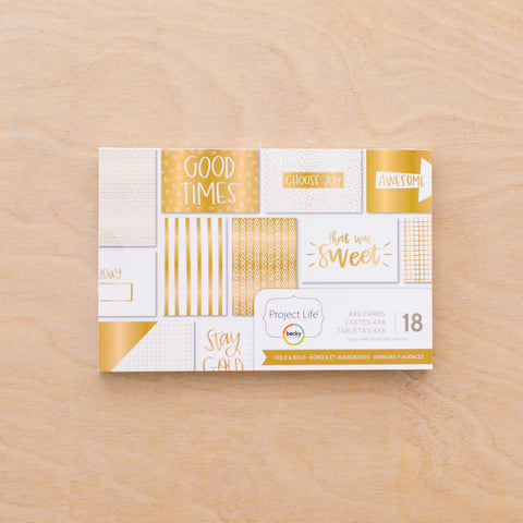 Gold + Bold 4x6 Card Pad