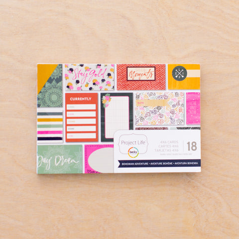 Bohemian Adventure 4x6 Card Pad