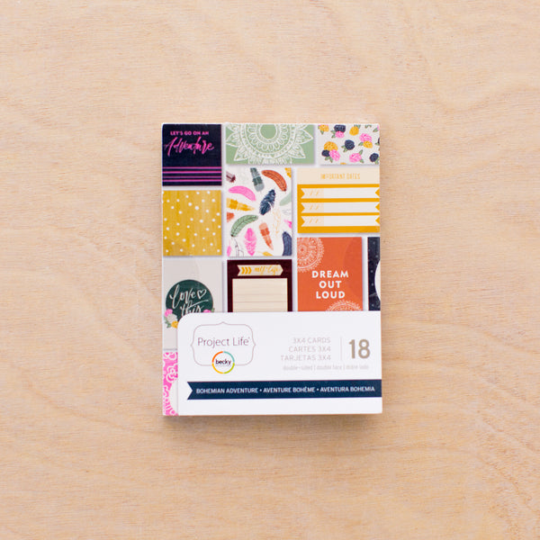 Bohemian Adventure 3x4 Card Pad