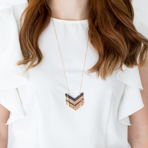 "Gold ""V"" Necklace"