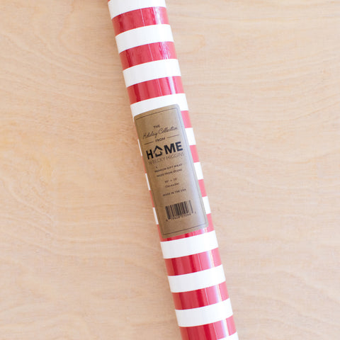 Stripes - Red + White Stone Wrap